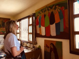 Another successful art tour in Antigua Guatemala, at the Studio of Carlos Chavez