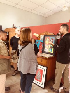 Another successful art tour in Antigua Guatemala, with artist Juan Pablo Canale