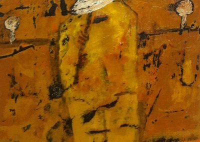 "El Músico, acrylic on canvas, 9""x7.5"" US$940"