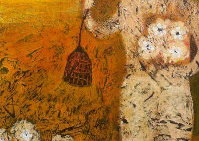 "La Jaula, acrylic on canvas, 16""x18"", price: US$1740"