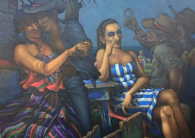 "Las Dos Guatemalitas by Alfredo Garcia Gil, Guatemalan fine artist, 39.5""x31.5"". Oil on canvas. Price US$3,500"