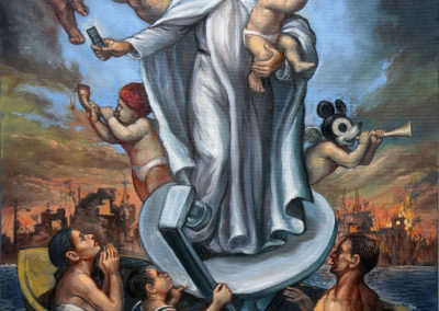 "Remote Control Madonna, oil on canvas, 18"" x 24"", Price US$.3,300"