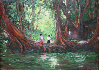 """Rio Dulce Morning, 18""""x 24"""". Oil on canvas. Private Collection"""