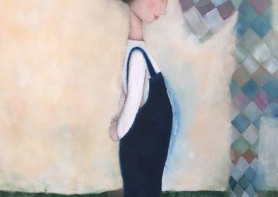 "Un cuento para Emma by Andrea Castillo - Colombian Fine - Artist 40"" x 30"", mixed medium on canvas US$. 1650."