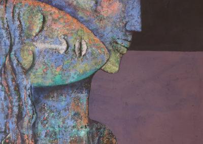 "Luz de alba by Emanuel Paniagua, Guatemalan fine artist, acrylic & oil on canvas, 38"" x 24"", US$. 3500."