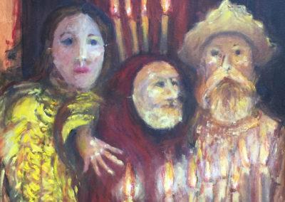 """Noche cervantina - Brian M. Johnston, 2018, oil on canvas 20"""" x 24"""", US.$1600."""