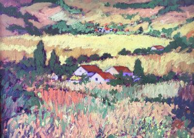 "Paisaje de Nahuala - B. M. Johnston, (1998) 16""x 20"" oil on canvas, US$. 1500."