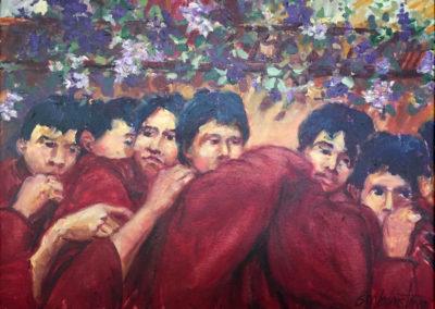 "Procesion de Santa Maria de Jesus - Brian M. Johnston (2005), 40"" x 28"" US$. 3600."