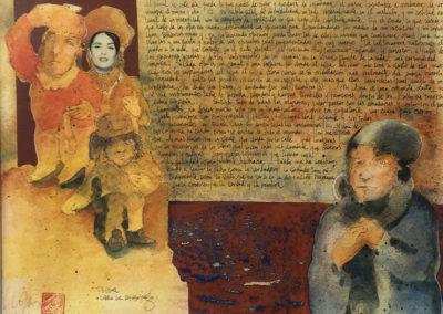 "Al final de este dia - Alexis Rojas - Guatemalan Fine Artist - 11"" x 8.5"" US$. 500."