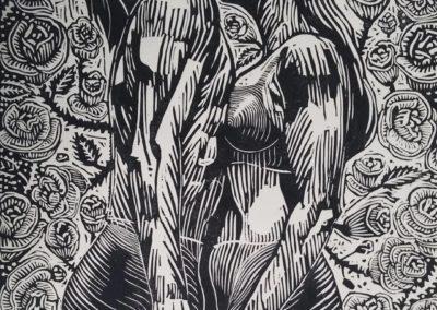 "Estudio de Figuras - Guillermo Maldonado - Guatemalan Artist and Print Maker - 18"" x 24"" US$500."