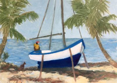 "On the hard - Brian M. Johnston (2018) North American Impressionist - 18"" x 24"", oil on canvas, US$.900."