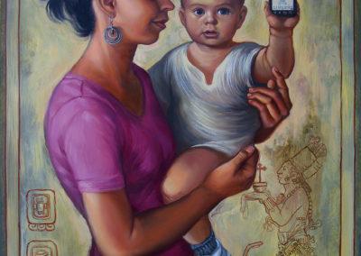 "The Creed (2014) - Patrick McGrath Muñiz - Puerto Rican contemporary fine artist - oil on panel - 18"" x 24"" - US$. 3250."