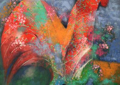 "Amanecer I - Emanuel Paniagua - Guatemalan Fine Artist - mixed medium on board - 33"" x 24.5"" - US$. 1000."