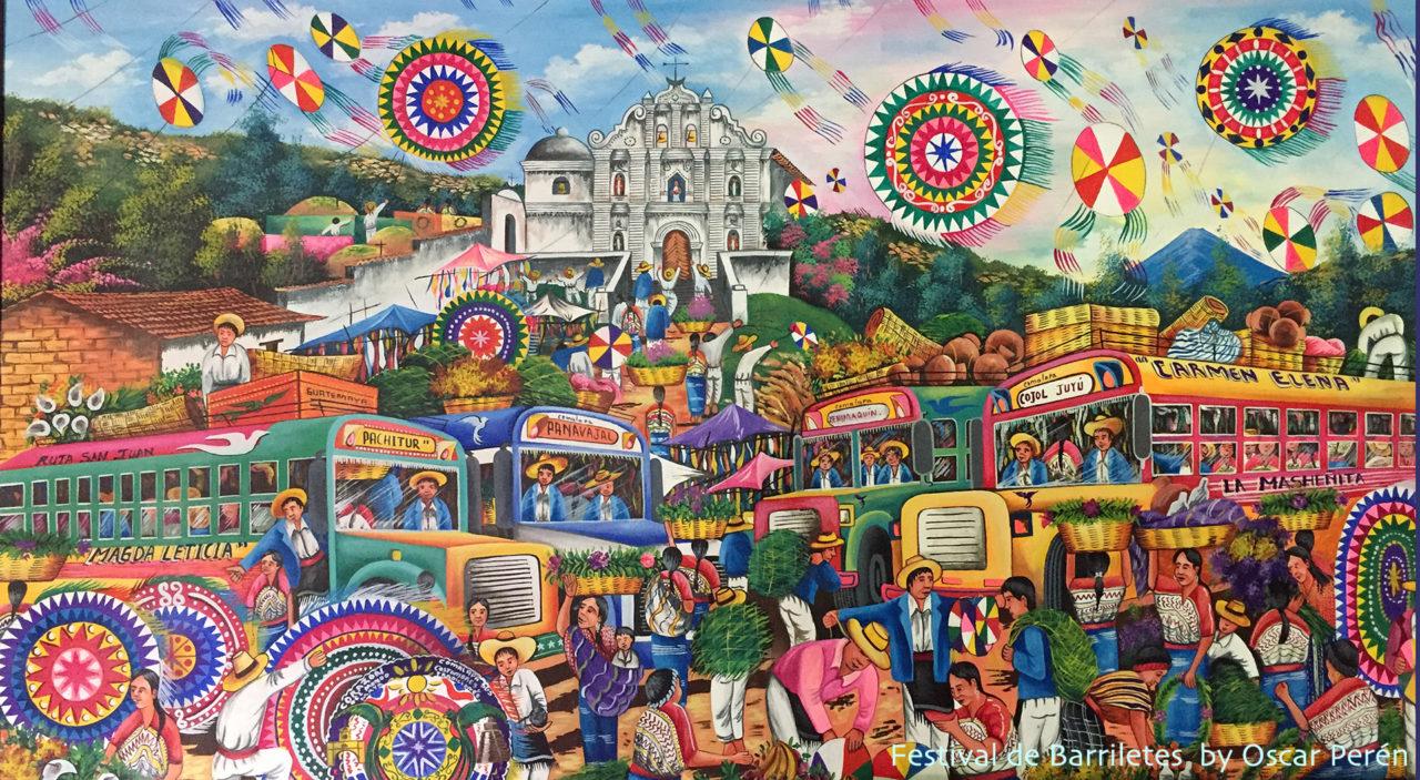 Festival de barriletes-Oscar Peren - Naif Art Guatemala tour