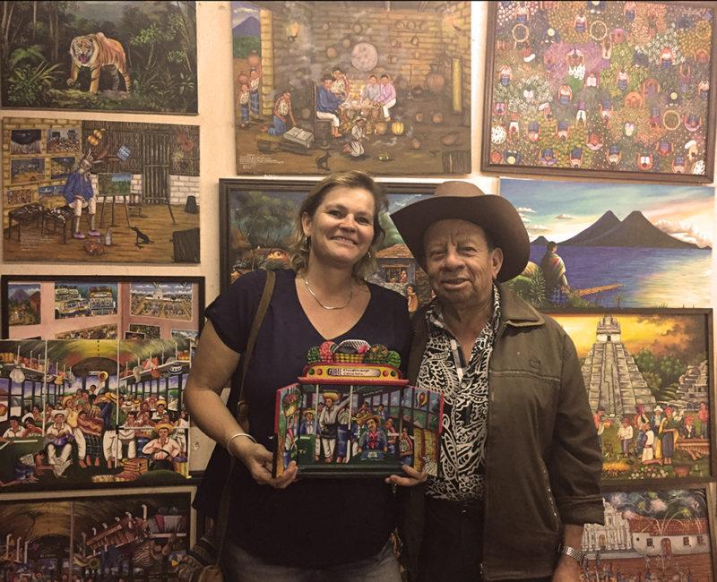 Oscar Peren´s Studio-Comalapa - Naif Art of Guatemala Tour