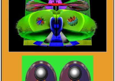 "The Third Eye 16 - Mario Permuth - Guatemalan renowned photographer and artist - Digital Art - 8"" x. 10"" - US$.250."