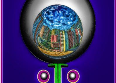 """The Third Eye 17 - Mario Permuth - Digital Art - 8"""" x. 10"""" - US$.250."""