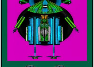 """The Third Eye 19 - Mario Permuth - Digital Art - 8"""" x. 10"""" - US$.250."""