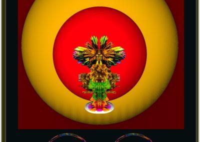 """The Third Eye 20 - Mario Permuth - Digital Art - 8"""" x. 10"""" - US$.250."""