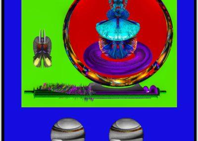 """The Third Eye 21 - Mario Permuth - Digital Art - 8"""" x. 10"""" - US$.250."""