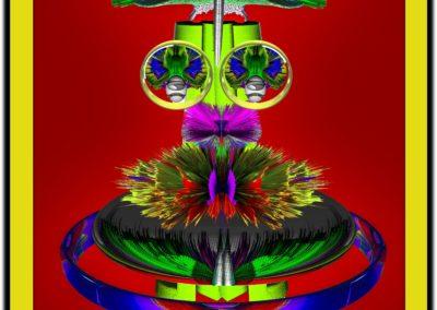 "The Third Eye 25 - Mario Permuth - Guatemalan renowned photographer and artist - Digital Art - 8"" x. 10"" - US$.250."