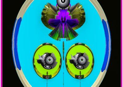 """The Third Eye 27 - Mario Permuth - Digital Art - 8"""" x. 10"""" - US$.250."""