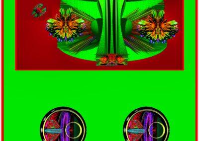 """The Third Eye 30 - Mario Permuth - Digital Art - 8"""" x. 10"""" - US$.250."""