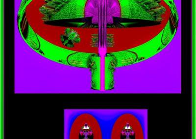 """The Third Eye 31 - Mario Permuth - Digital Art - 8"""" x. 10"""" - US$.250."""