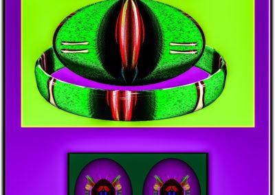 """The Third Eye 35 - Mario Permuth - Digital Art - 8"""" x. 10"""" - US$.250."""