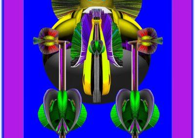 """The Third Eye 36 - Mario Permuth - Digital Art - 8"""" x. 10"""" - US$.250."""