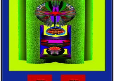 """The Third Eye 38 - Mario Permuth - Digital Art - 8"""" x. 10"""" - US$.250."""