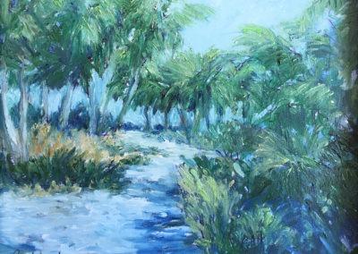 "Beach Trail - Brian M. Johnston - North American Impressionist Artist - oil on canvas - 11"" x 14"" - US$ 800."