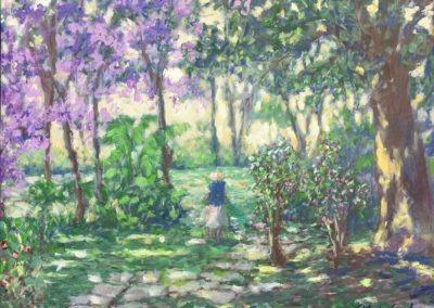 "Garden Window - Brian M. Johnston - North American Impressionist Artist - 16"" x 20"" - oil on canvas"