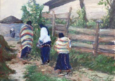 """Into The Pueblo - Brian M. Johnston - North American Impressionist - 16"""" x 20"""" - oil on canvas - US$. 1350."""