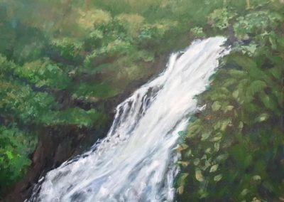 "Ocho Ríos Waterfall 2 - Brian M. Johnston - North American Impressionist Artist - 24"" x 32"" - US$. 1800."