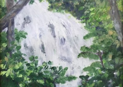 "Ocho Rios Waterfall I - Brian M. Johnston - 10"" x 14"" - oil on canvas - US$. 620."
