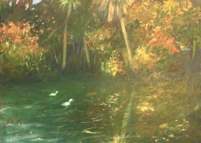 "On The River - North Florida - Brian M. Johnston - North American Impressionist Artist - oil on canvas - 22"" x 30·"" US$1800."