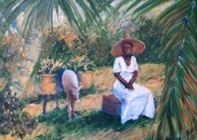"Rest stop - Brian M. Johnston - North american impressionist artist - 16"" x 20"" - oil on canvas - US$.1350."
