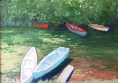 "Tampico Coastal Creek - Brian M. Johnston - North american Impressionist Artist - oil on canvas - 16"" x 20"" - US$. 1350."