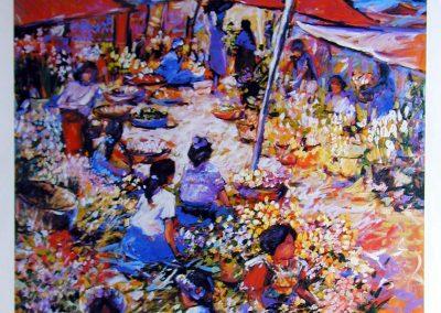 "Mercado al sol - Brian M. Johnston - North American Impressionist Artist - 21.5"" x 28"" limited edition print - US$35."