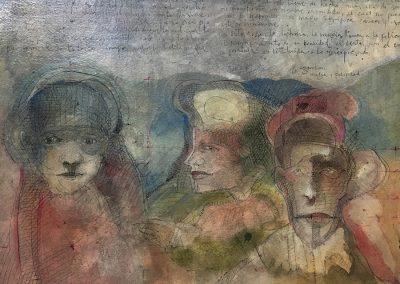 """Magia y felicidad - Alexis Rojas - Guatemalan Fine artist15"""" x 11"""" Mixed medium on canson paper - US$1050."""
