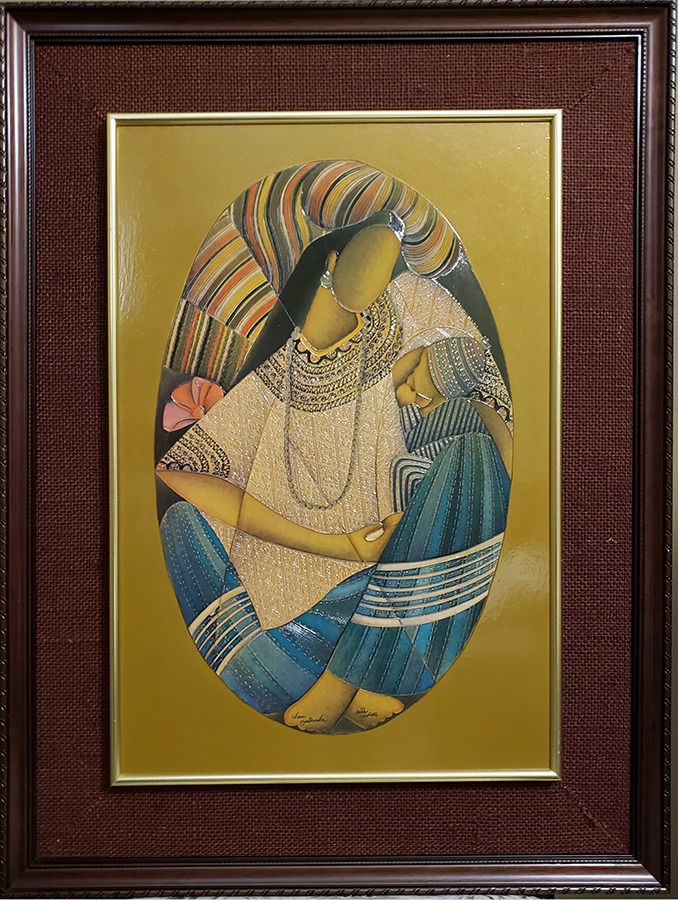 "David Ordoñez-Guatemalan Folk Artist-13.5"" x 19.5"" acrylic on board, framed. US$800."