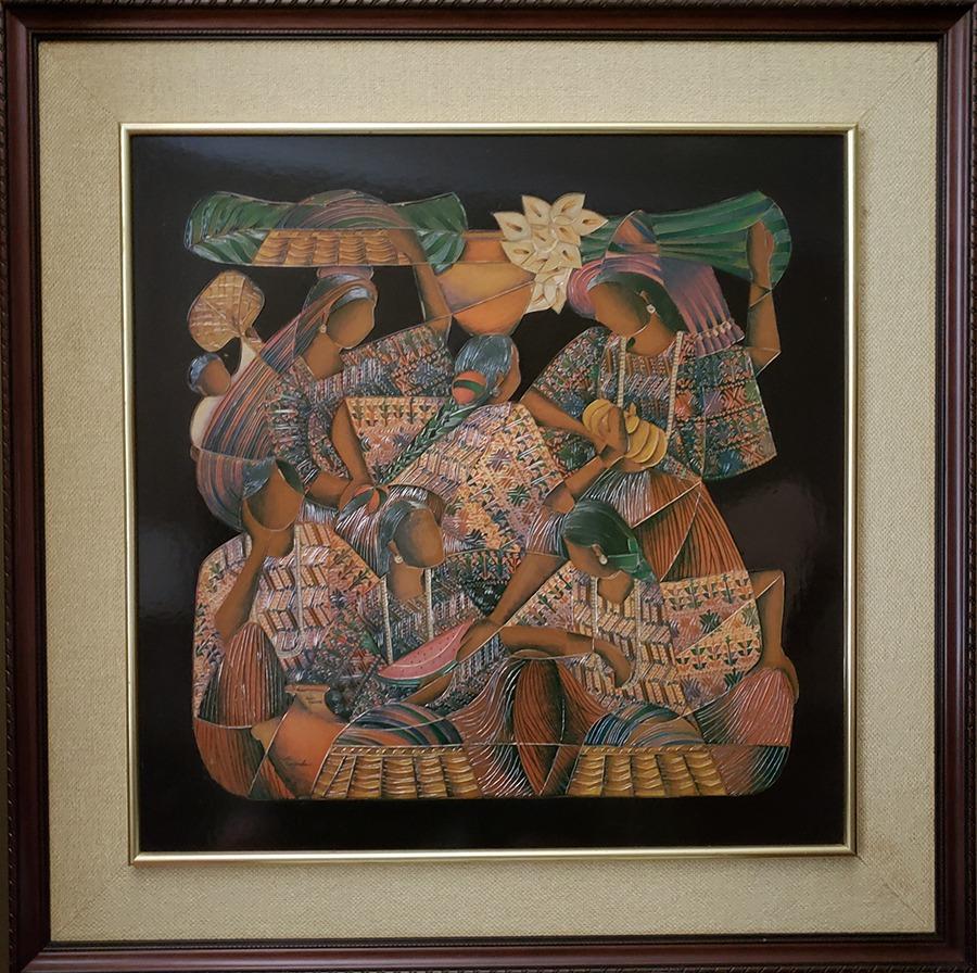"David Ordoñez-Guatemalan Folk Artist- Acrylic on board - 20.5"" x 20.5"" US$. 1200."
