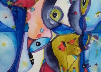 Diario Visual-2 - Gustavo Garcia - Watercolor artist - Guatemala - Watercolor -11.5 x 15.75 - US$800.