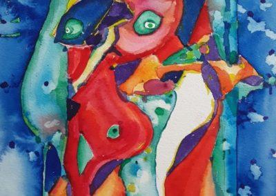 "Diario visual 1 - Gustavo Garcia - Watercolor artist - Guatemala - 11.5"" x 15.75"" - US$800."