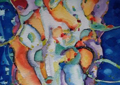 "Diario visual 4 - Gustavo Garcia - Watercolor artist - Guatemala - Watercolor - 11.5"" x 15.75"" - US$800."
