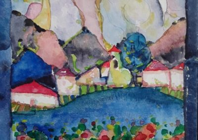 Paisaje 1 - Gustavo Garcia - Watercolor artist - Guatemala - Watercolor - 9.45 x 12.5-2 - US$600.