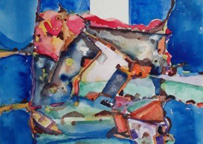 "Paisaje 2 - Gustavo Garcia - Watercolor - 14"" x 18.9"" - US$1,000."