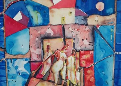 "Paisaje 3 - Gustavo Garcia - Watercolor artist - Guatemala - Watercolor - 14"" x 18.9"" - US$1000."